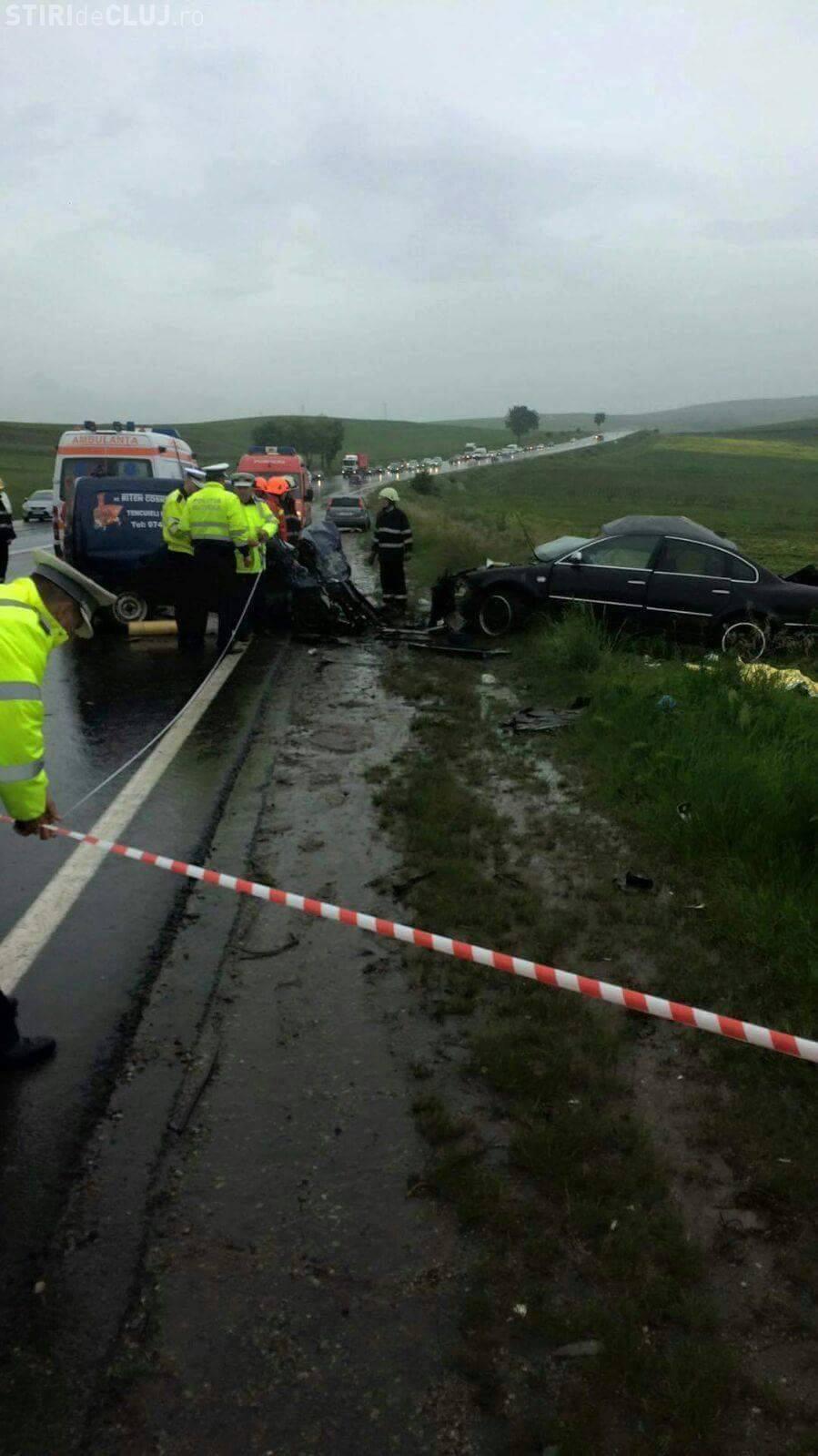 Accident cu TREI MORȚI la ieșire din Turda spre Cluj-Napoca - FOTO