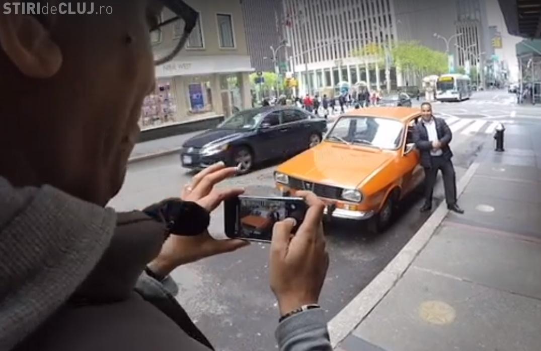 Dacia Faimoasă din New York. Clipul românului care promovează SINGUR România în SUA - VIDEO