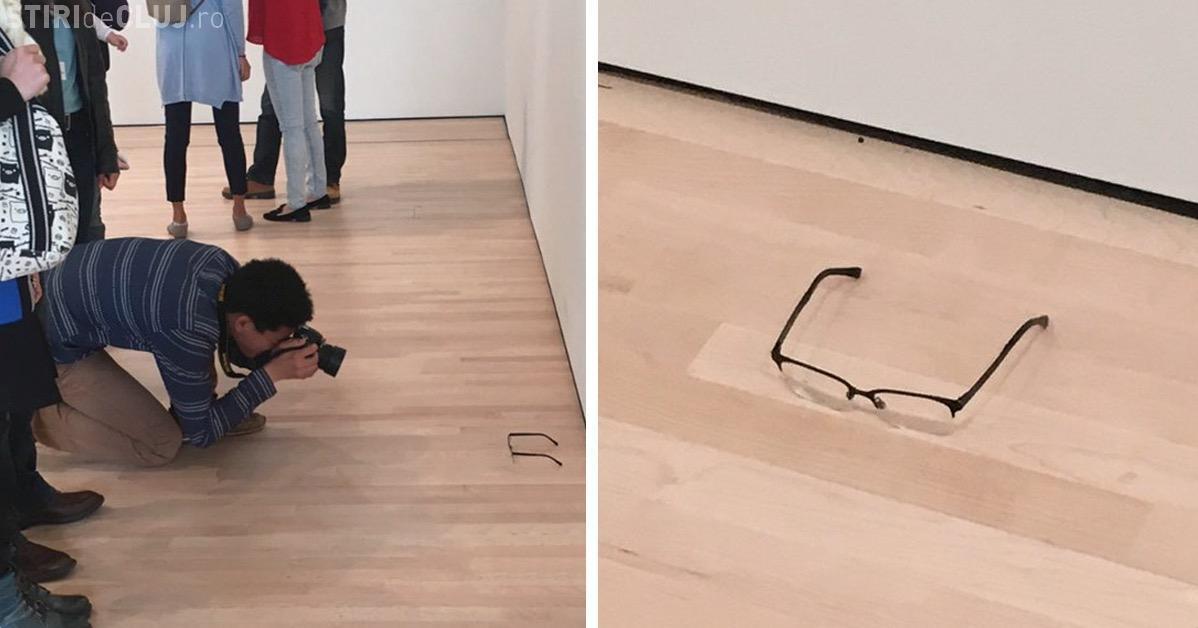 A pus o pereche de ochelari, pe jos, într-o galerie de artă. Ce a urmat i-a UIMIT pe toți - FOTO