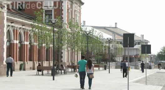 S-au finalizat lucrările în Piața Gării, din Cluj. Cum arată acum VIDEO