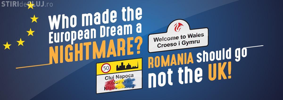 Problema placutelor bilingve de la Cluj, folosită de extremiștii din Olanda, care cer iesirea României din UE