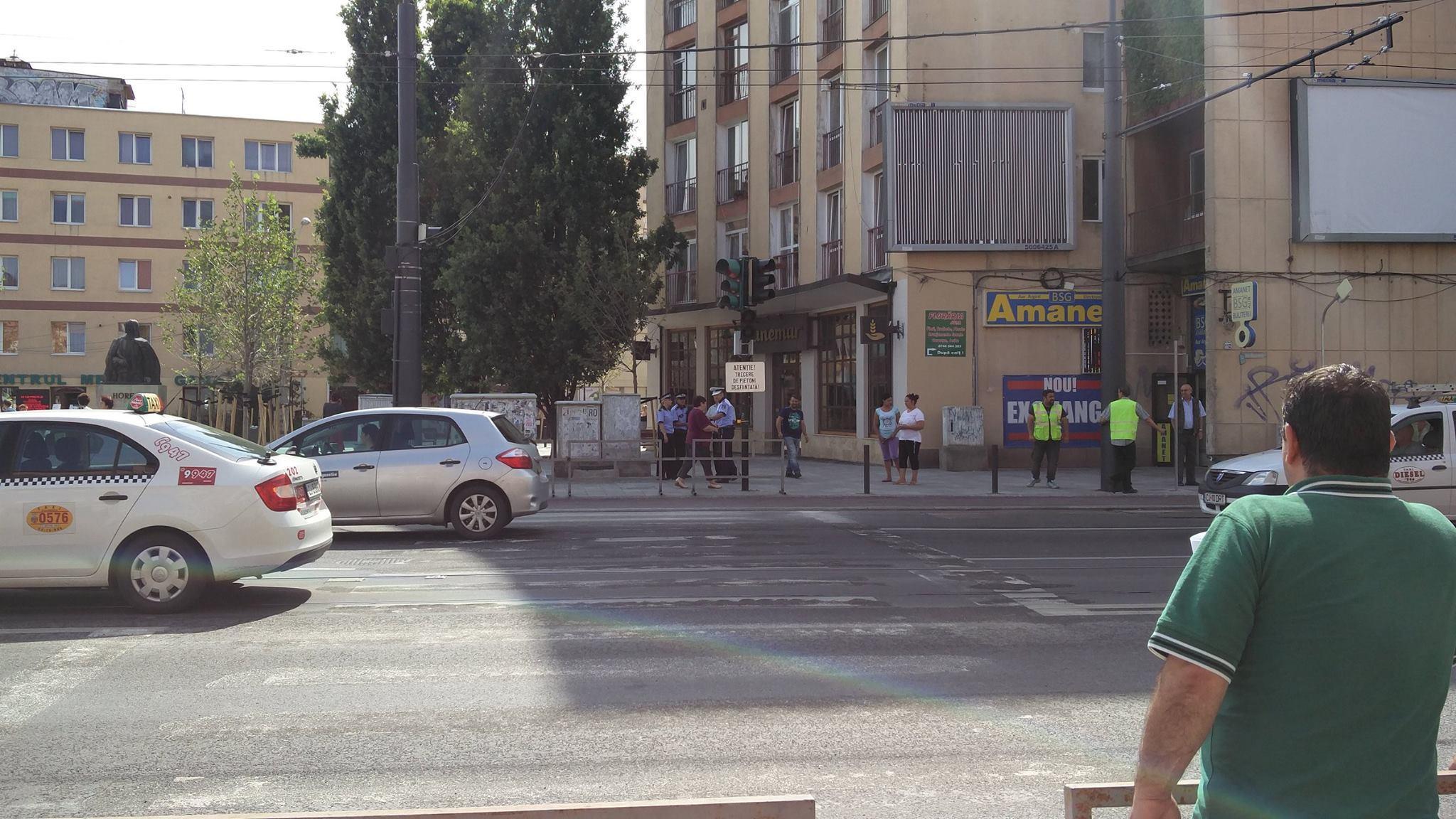 Trecerea de pietoni de pe strada Horea a dispărut - FOTO