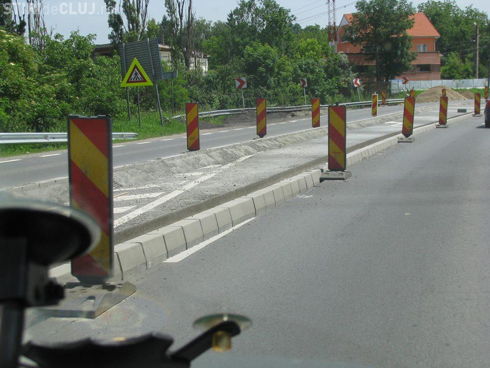 Bordurile au apărut și pe Dealul Feleacului. Șoferii cred că sunt un pericol pentru trafic - FOTO