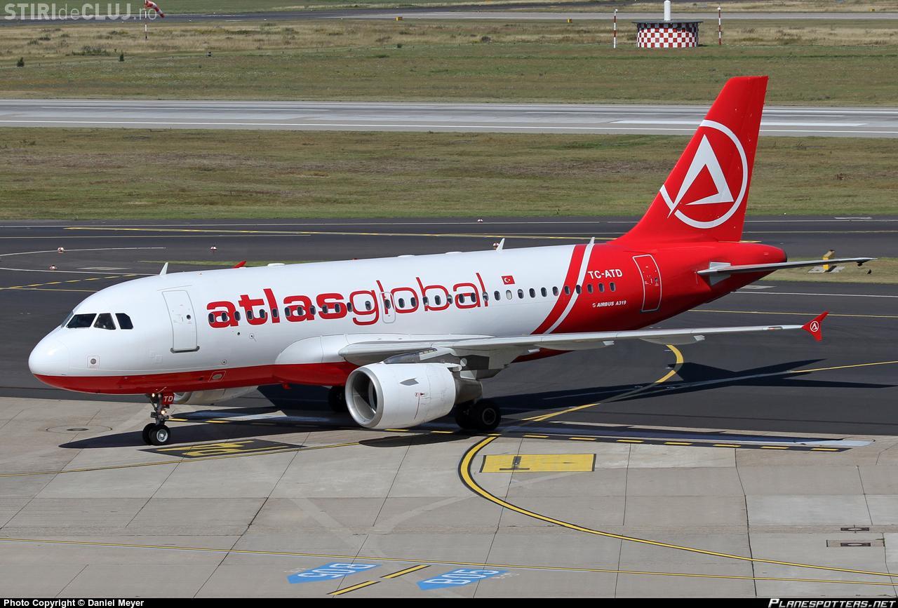 Atlasglobal va lansa zborul Cluj-Napoca - Istanbul mai repede. S-a mai anunțat o noutate