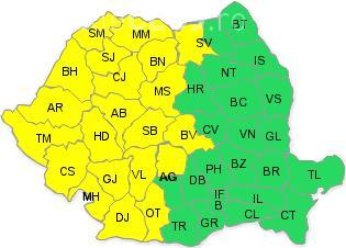 Cod galben de furtuni în jumătate de țară, în acest weekend. Ce anunță ANM