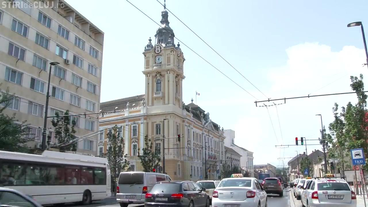 Turnul cu ceas de la Primăria Cluj-Napoca a fost pus în funcțiune - Galerie FOTO