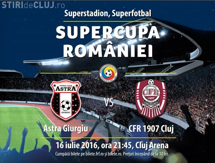 Știri de Cluj oferă 4 bilete la Supercupa României: CFR Cluj - Astra Giurgiu, pe Cluj Arena