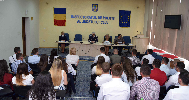 """31 de noi polițiști și-au intrat în """"pâine"""" la IPJ Cluj"""