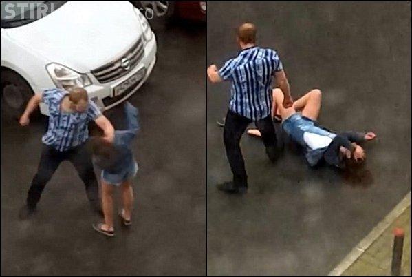 Un nemernic și-a bătut fosta iubită în plină stradă - FOTO