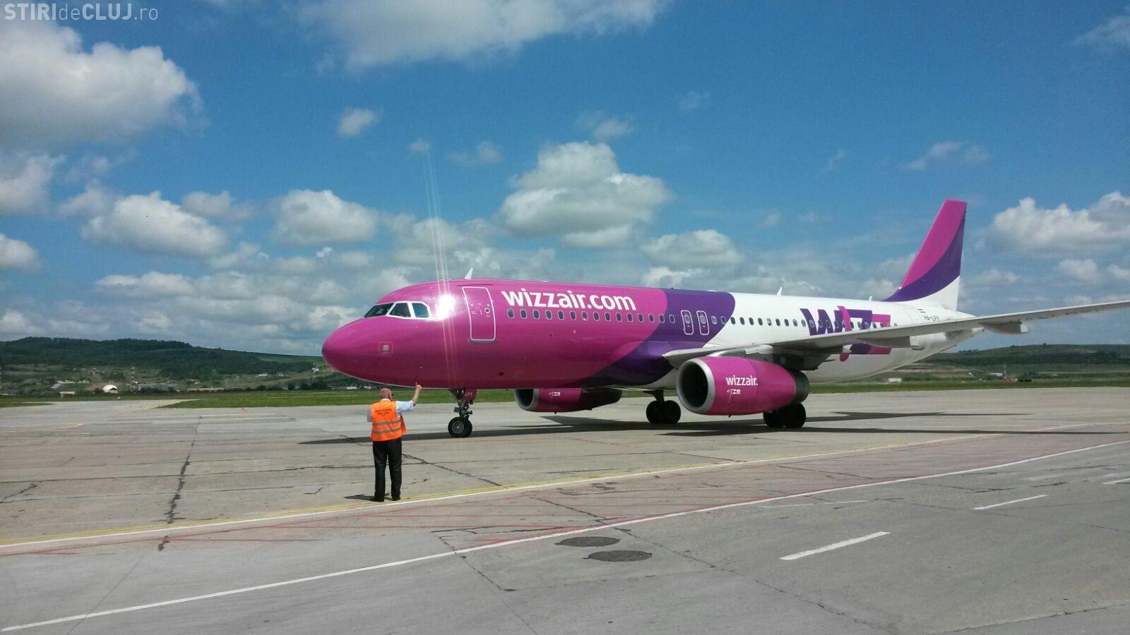 Wizz Air sărbătorește pasagerul cu numărul 6.000.000 la Cluj. Lansează zborul spre București cu prețuri BOMBĂ FOTO