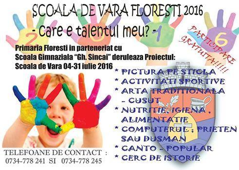 Școală de vară GRATUITĂ la Florești. Ce activități pot face copiii