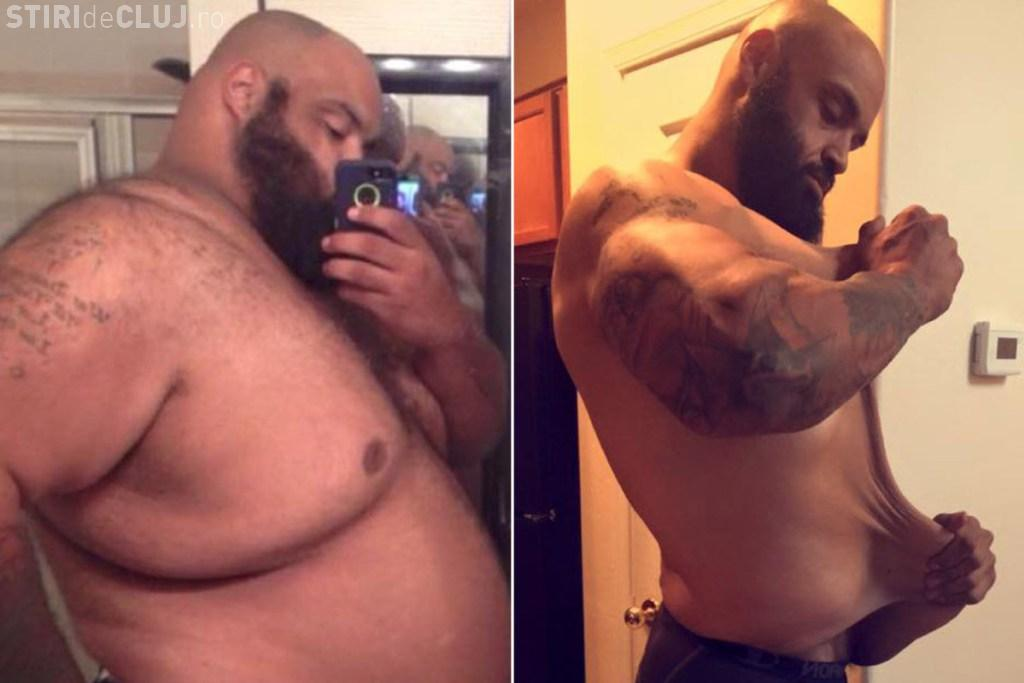 A slăbit 150 de kg mergând de trei ori pe zi la magazin