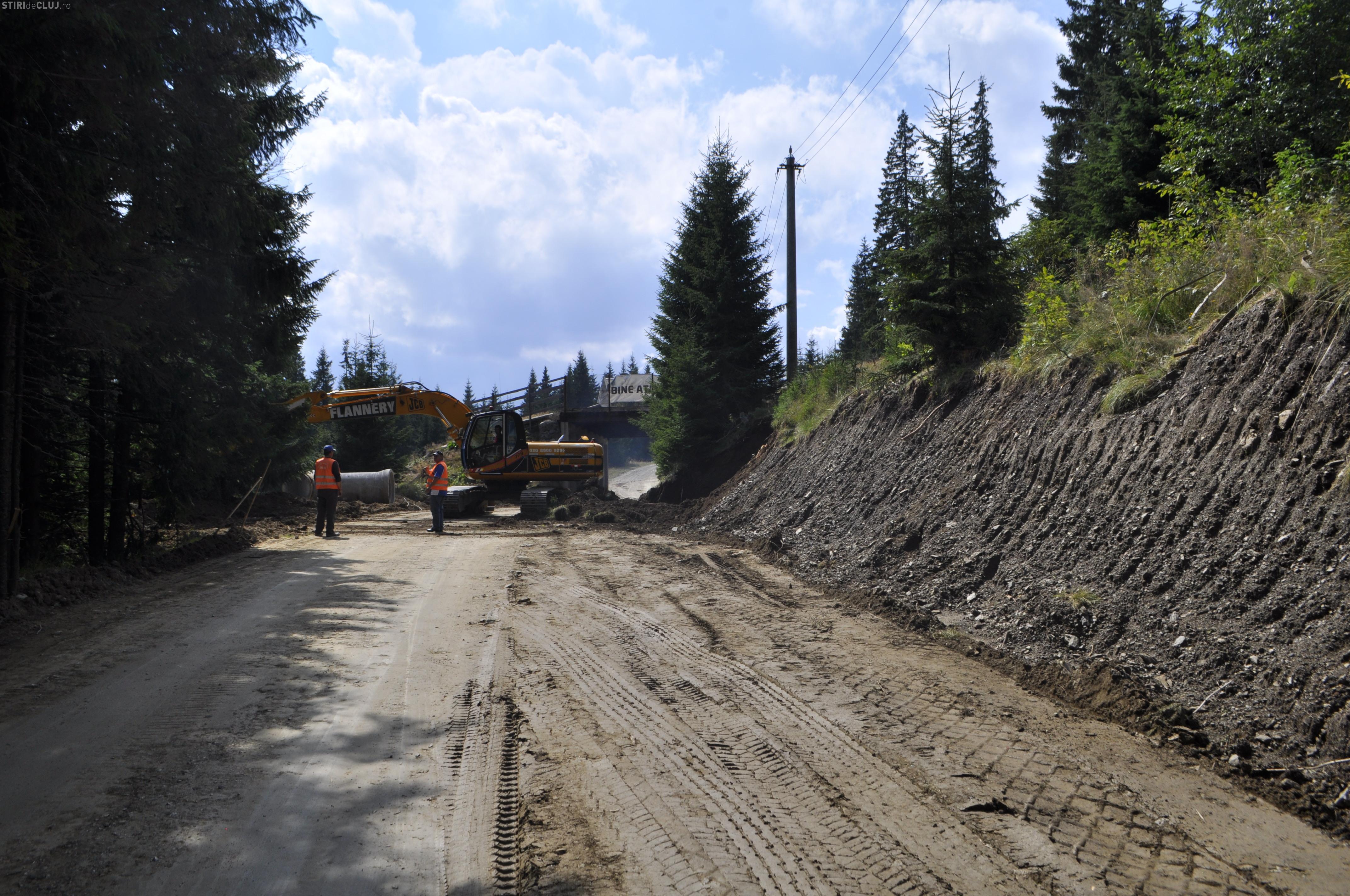 Investiţie de amploare pe drumul Muntele Băişorii – Muntele Mare, spre pârtia de schi Buscat