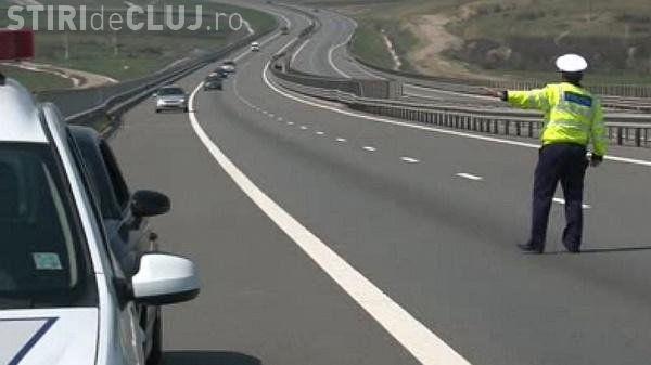 Un vitezoman a fost oprit pe Autostrada Transilvania. Se credea la Formula 1