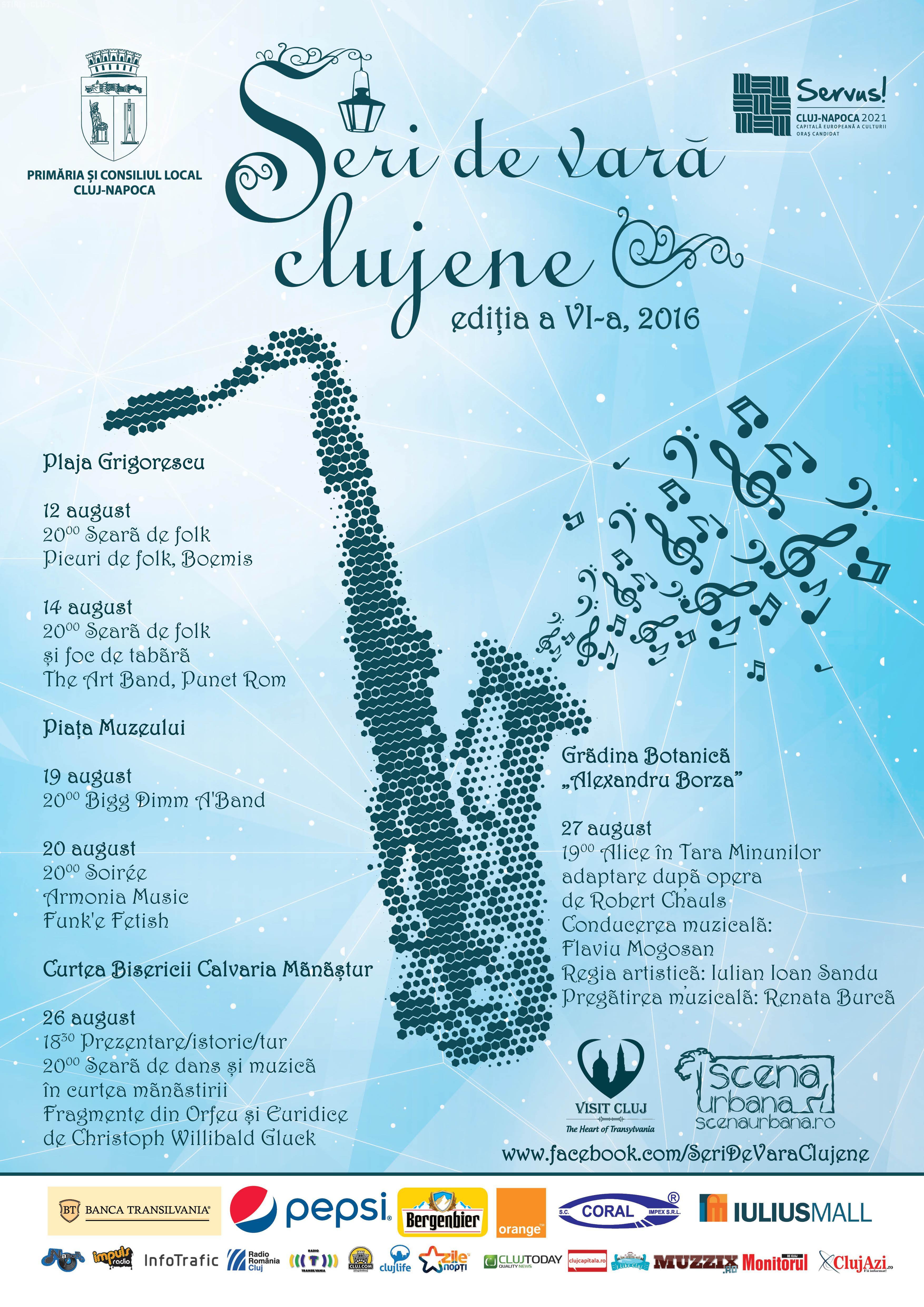 Seri de Vară Clujene 2016. PROGRAMUL festivalului