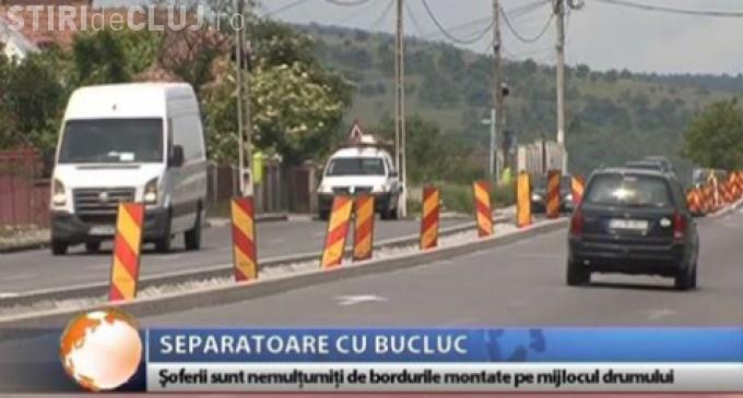 Noi controverse cu separatoarele  de sens de pe DN 1 Turda - Cluj-Napoca - Huedin