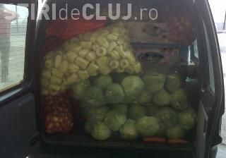 Sute de kilograme de legume, confiscate de polițiștii clujeni în trafic