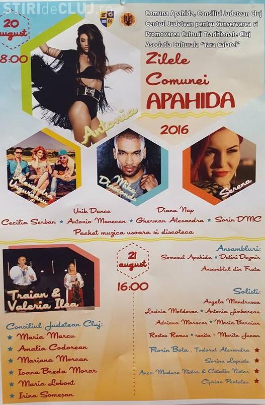 Cine cântă la zilele comunei Apahida