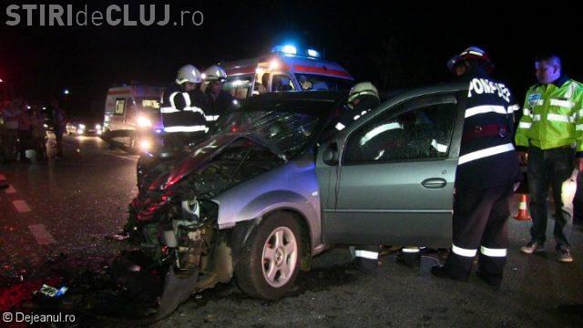 CLUJ: Șapte persoane au fost rănite în urma unui accident rutier VIDEO