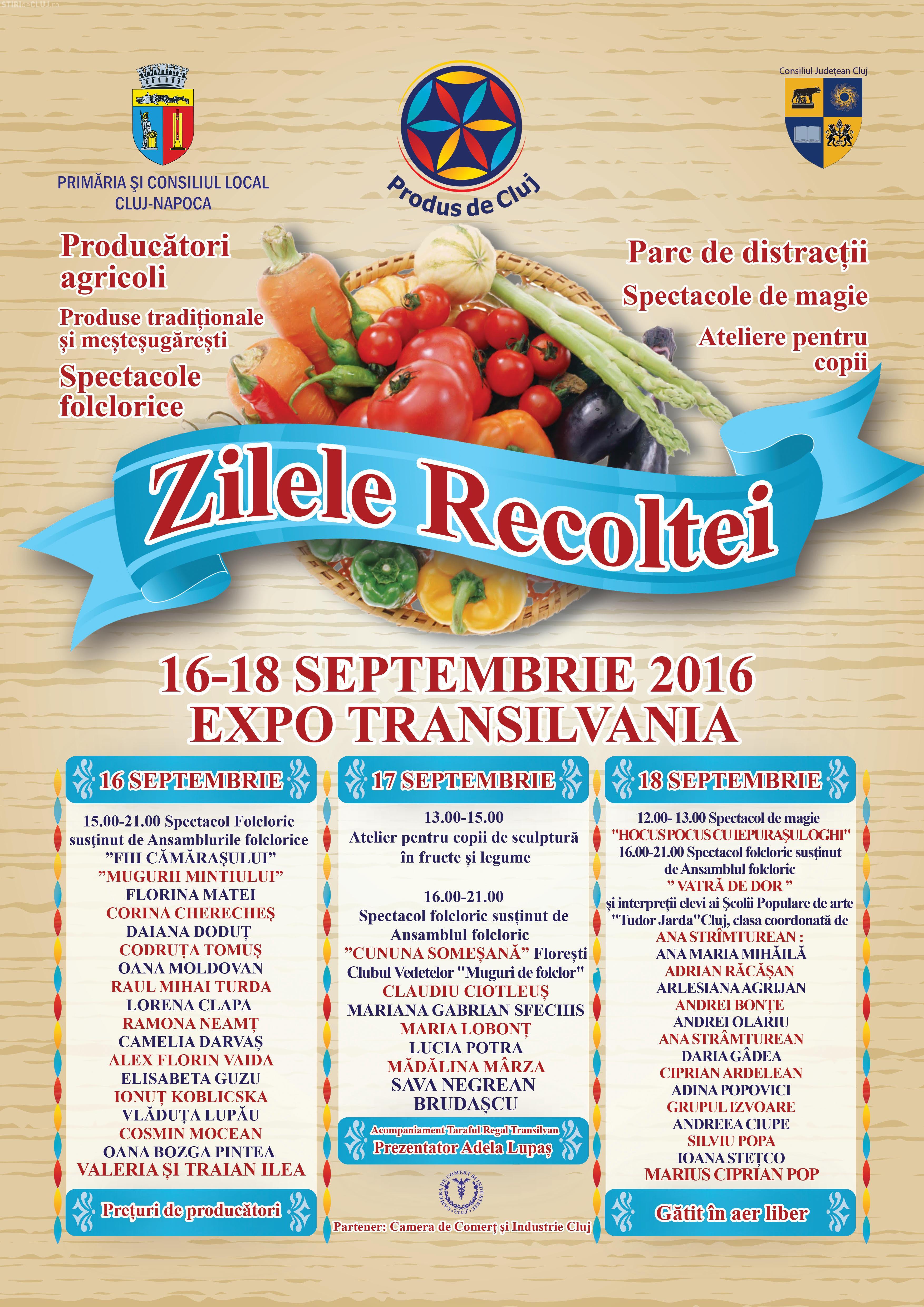 """""""Zilele Recoltei"""" la Cluj-Napoca, în 16 - 18 septembrie"""