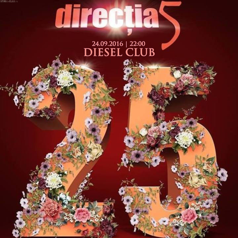Direcția 5 sărbătorește 25 de ani de existență printr-un concert la Cluj, în acest weekend