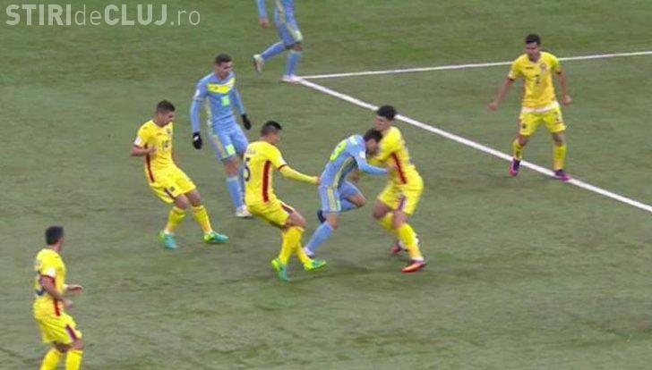 """RĂZBOI pe teren în meciul România-Kazahstan. """"Tricolorii"""" s-au ales cu dinți sparți, rupturi de mușchi și alte accidentări"""