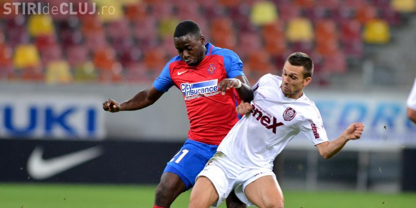 CFR Cluj a învins Steaua, pe Național Arena, 2-1 / REZUMAT VIDEO