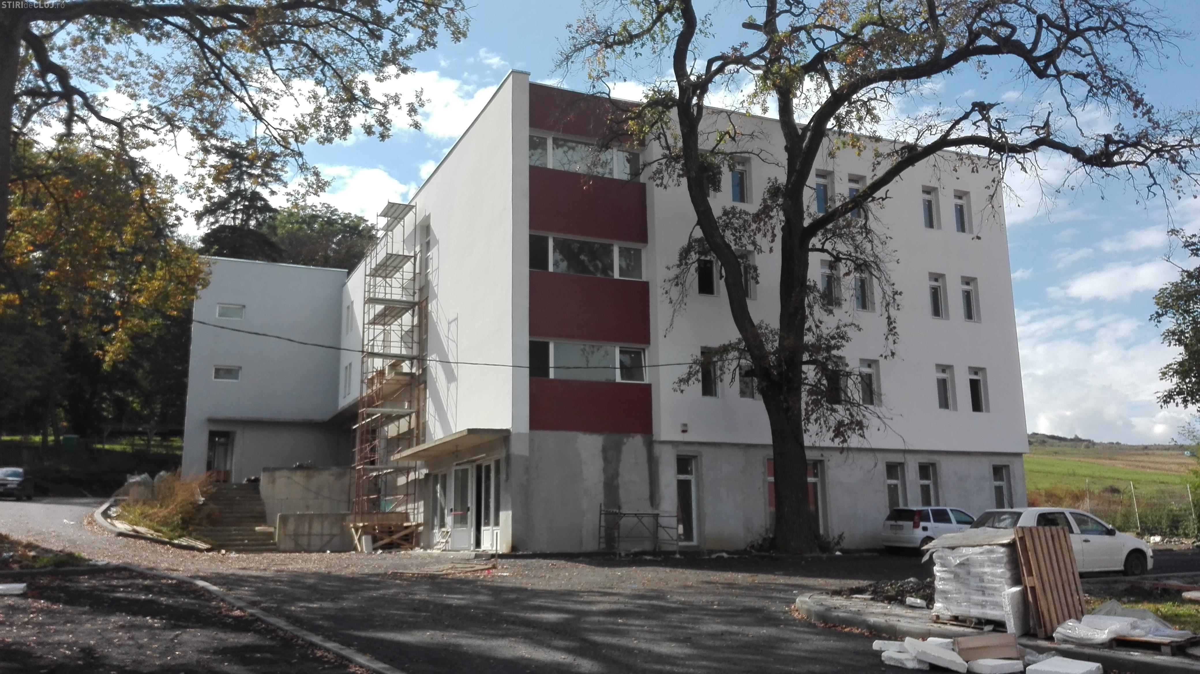 Noua clădire a Spitalului de Boli Psihice-cronice Borşa este aproape terminată - FOTO