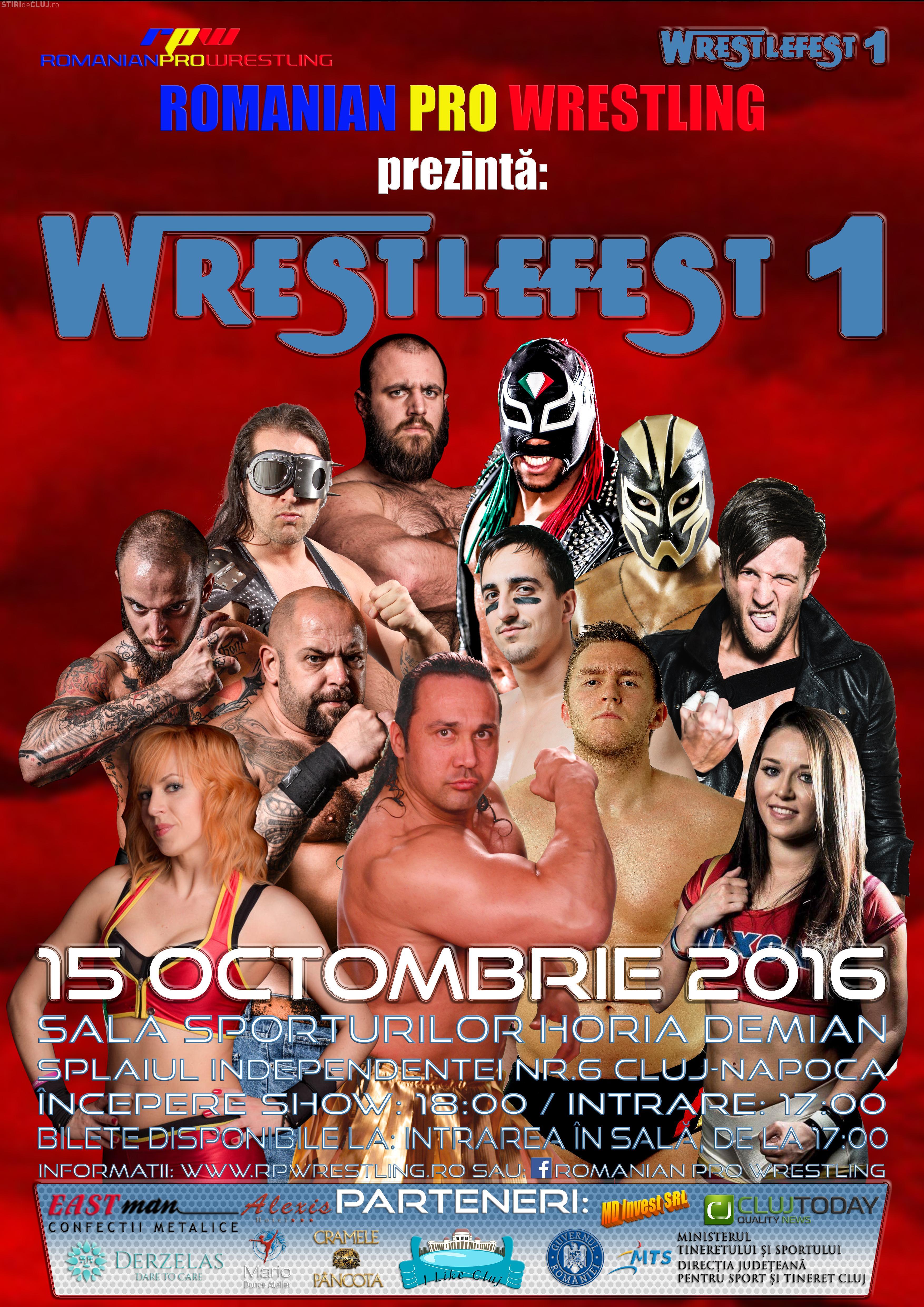 Gală de Wrestling la Cluj! Nume mari din toată Europa se vor lupta pentru centura Pro Wrestling