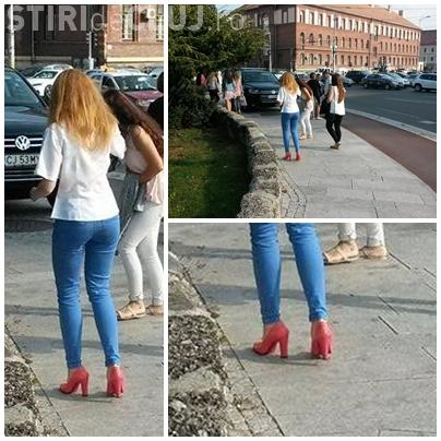 Cluj: La început de an școlar și-a luat pantofi cu toc de 15 cm - FOTO
