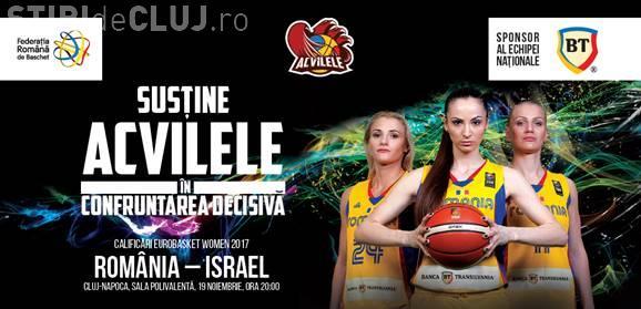 România - Israel. Meci decisiv de baschet în Sala Polivalentă din Cluj-Napoca