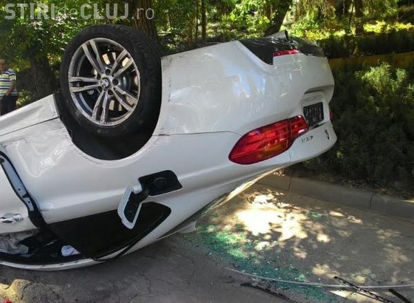 Un deputat clujean a povestit o pățanie cu un BMW -ist: A ajuns cu roțile în sus