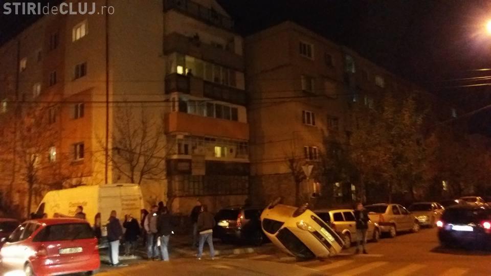 Accident pe strada Teleorman! S-a răsturnat într-o intersecție cu patru cedează trecerea - FOTO