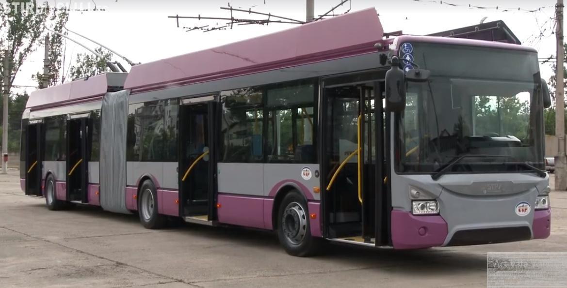 CTP Cluj pune în funcțiune 6 noi troleibuze, în valoare de peste 500.000 euro fiecare. De ce dotări dispun