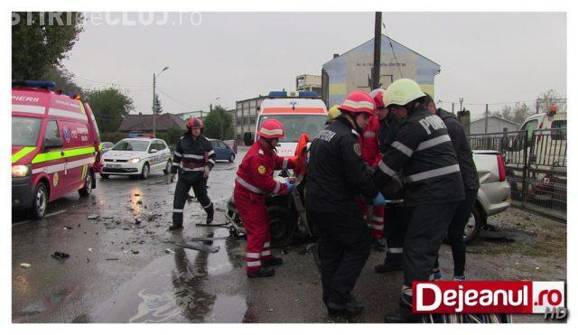 Accident grav la Dej! Cinci persoane au fost rănite FOTO