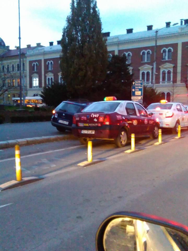 Și taximetriștii din Cluj-Napoca sunt șicanați - FOTO
