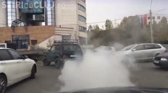 ALO RAR Cluj! Autoturismul AFUMĂTOARE pe străzile Clujului - VIDEO