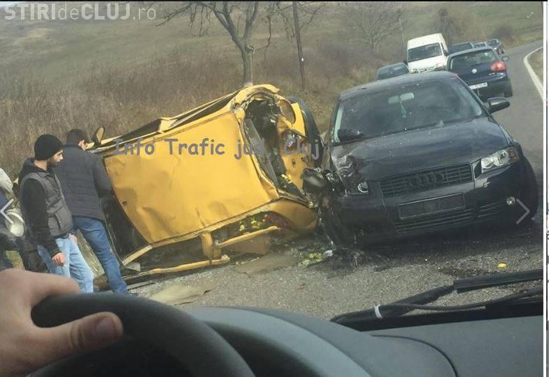 Accident în Apahida! Trei mașini s-au făcut praf - FOTO