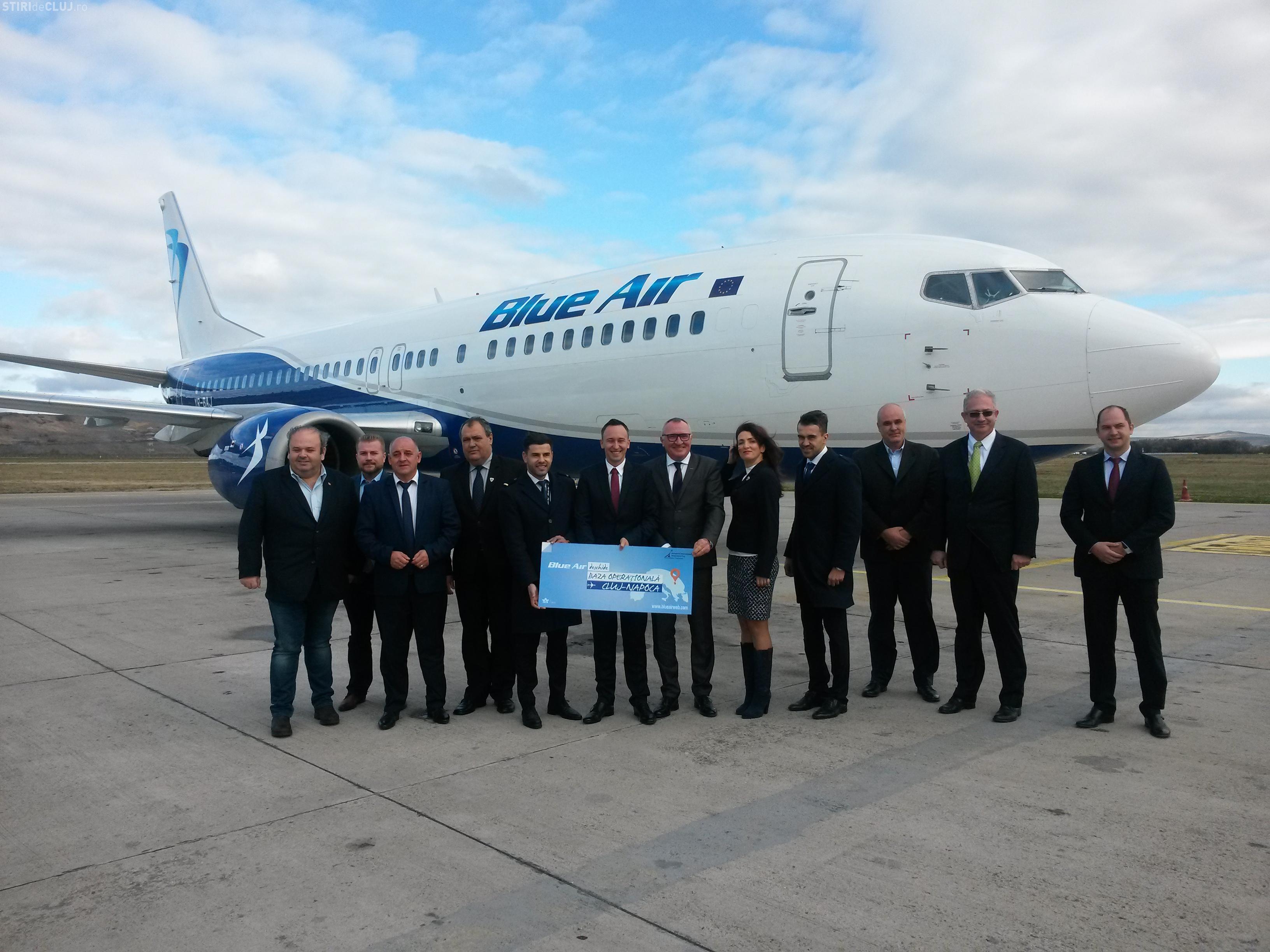 Blue Air a luat o DECIZIE importantă privind Clujul! A deschis o bază operaţională pe Aeroportul Cluj-Napoca