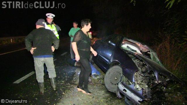 O persoană a murit, iar alte patru au ajuns la spital în urma unui accident la Dej. Șoferul era băut VIDEO