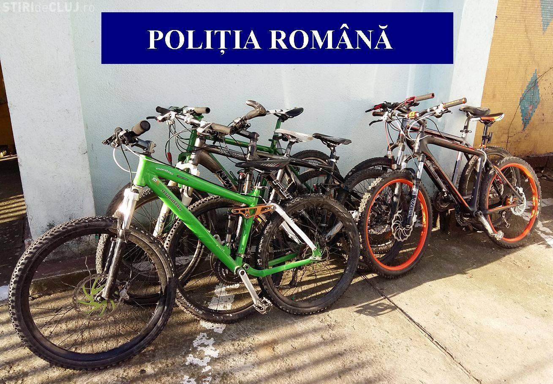 Biciclete în valoare de peste 18.000 lei, recuperate de polițiștii clujeni FOTO