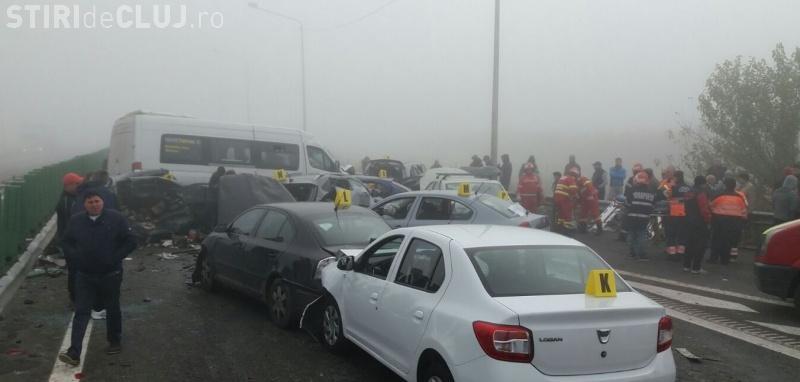 Poliţia Rutieră: Care este cauza accidentului de pe Autostrada Soarelui. 20 de şoferi sunt audiaţi și mașinile verificate