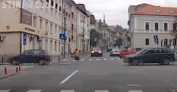 Cluj - Am X6, merg pe unde vreau! Ce a făcut acest șofer - VIDEO