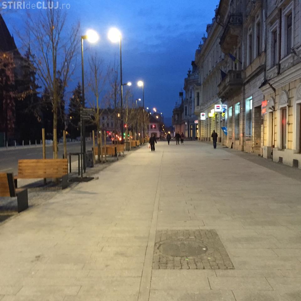 Pietonii capătă tot mai multă putere în centrul Clujului! Un nou tronson din Piața Unirii a fost FINALIZAT - FOTO