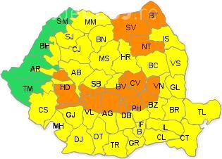 Iarna a cuprins România! ANM anunță cod galben și portocaliu de ninsori și vânt foarte puternic