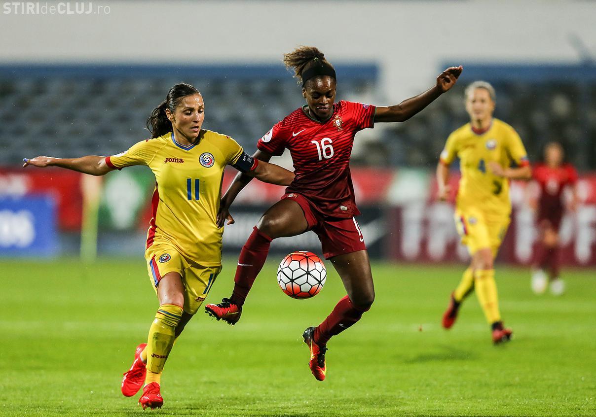 FOTBAL FEMININ: România joacă împotriva Portugaliei la Cluj! Intrarea la meci e GRATUITĂ