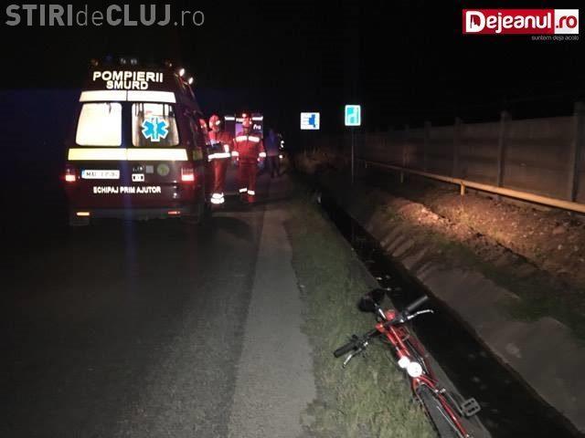 CLUJ: Biciclist implicat într-un incident rutier. Era aproape de comă alcoolică VIDEO