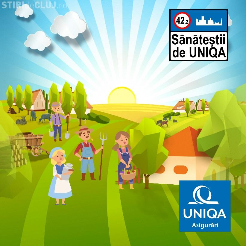 """Sănăteștii de UNIQA, """"localitatea"""" în care trăiesc doar oameni sănătoși vine la Cluj. Vezi despre ce este vorba"""