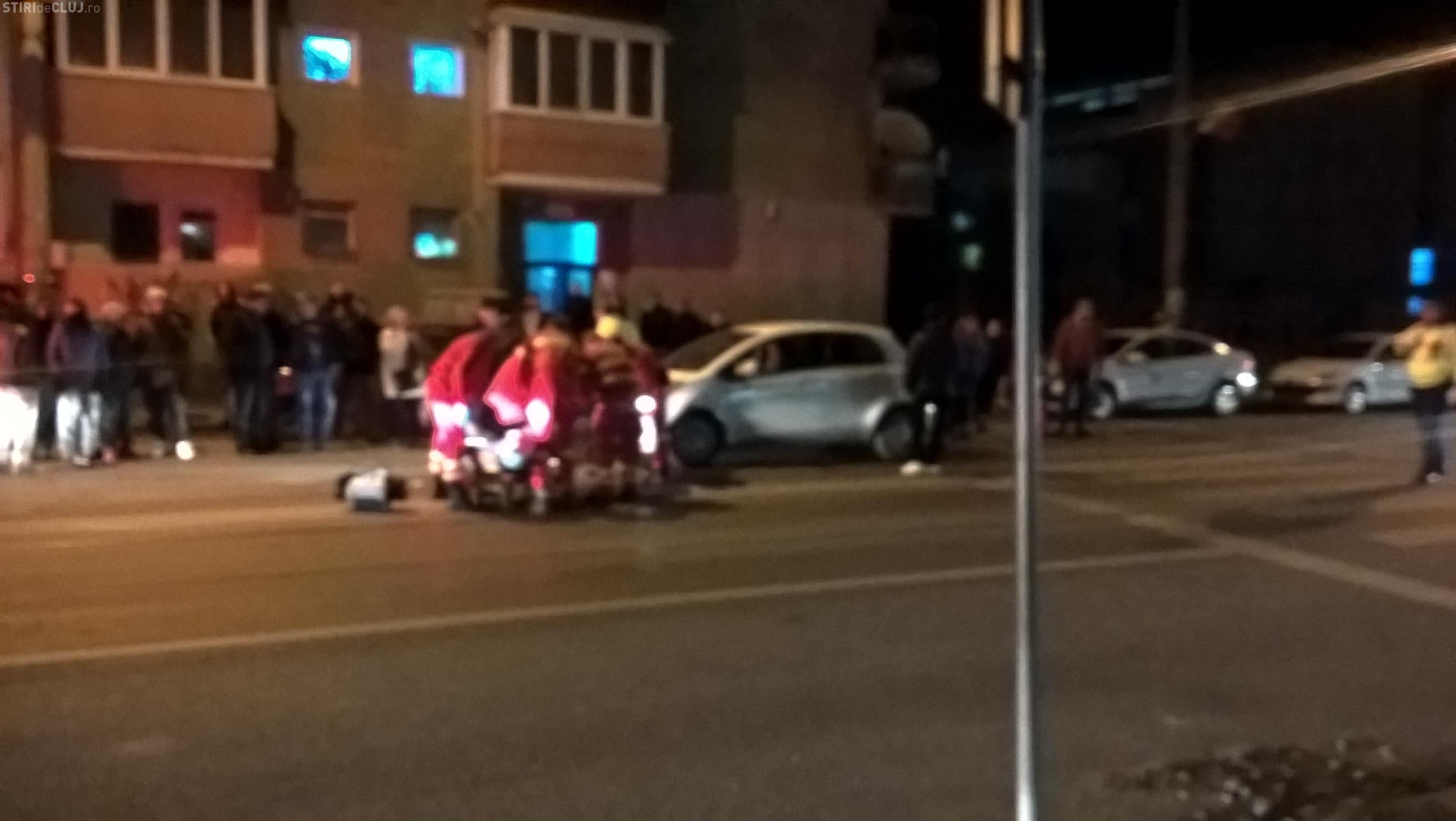 Pieton accidentat grav pe Bulevardul Muncii. O șoferiță l-a lovit în timp ce traversa strada VIDEO