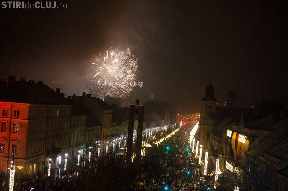 Foc spectaculos de artificii de 1 Decembrie la Cluj VIDEO